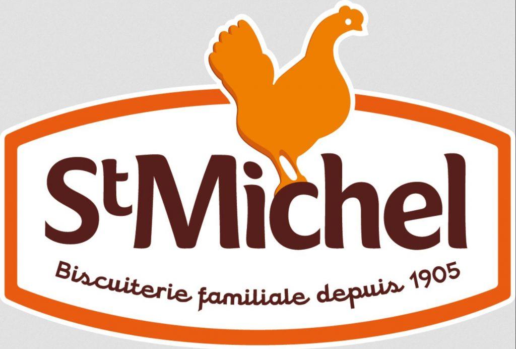 Logo St Michel goûters sans huile de palme communiqué de presse