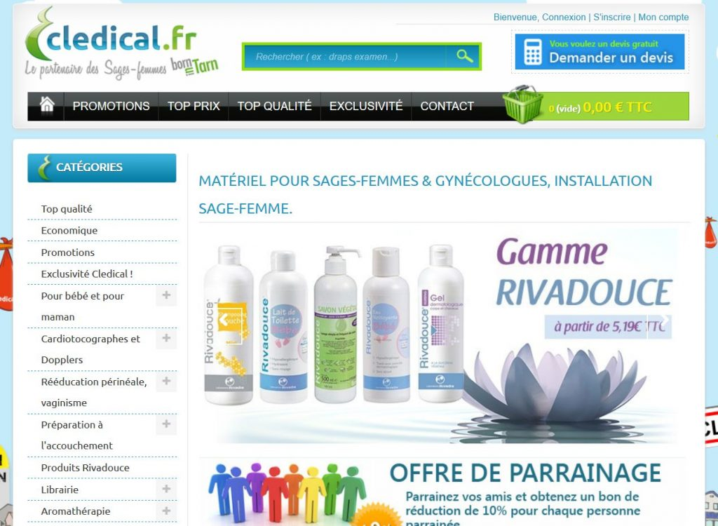 cledical site web materiel medical