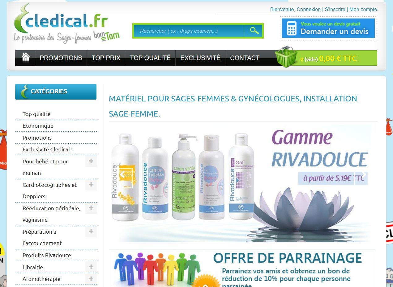 cledical site web materiel medical