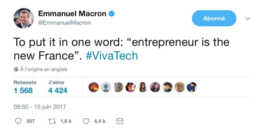 tweet emmanuel macron
